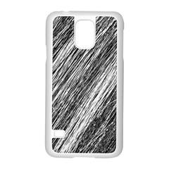 Black And White Decorative Pattern Samsung Galaxy S5 Case (white) by Valentinaart