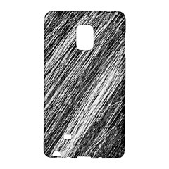 Black And White Decorative Pattern Galaxy Note Edge by Valentinaart