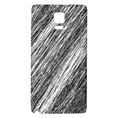 Black And White Decorative Pattern Galaxy Note 4 Back Case by Valentinaart