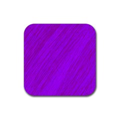 Purple Pattern Rubber Square Coaster (4 Pack)  by Valentinaart