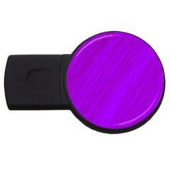 Purple Pattern Usb Flash Drive Round (4 Gb)  by Valentinaart