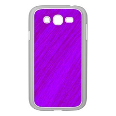 Purple pattern Samsung Galaxy Grand DUOS I9082 Case (White) by Valentinaart