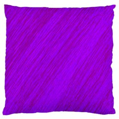 Purple pattern Large Flano Cushion Case (Two Sides) by Valentinaart