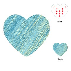 Light Blue Pattern Playing Cards (heart)  by Valentinaart