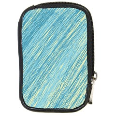 Light Blue Pattern Compact Camera Cases by Valentinaart