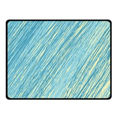 Light Blue Pattern Fleece Blanket (small) by Valentinaart