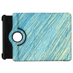 Light Blue Pattern Kindle Fire Hd Flip 360 Case by Valentinaart