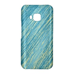 Light blue pattern HTC One M9 Hardshell Case by Valentinaart