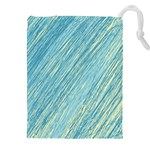 Light blue pattern Drawstring Pouches (XXL) Front
