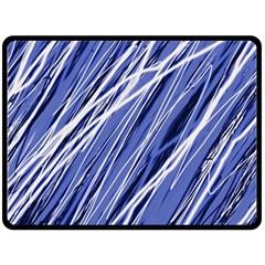 Blue Elegant Pattern Double Sided Fleece Blanket (large)  by Valentinaart