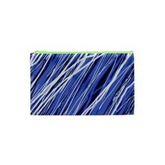 Blue Elegant Pattern Cosmetic Bag (xs) by Valentinaart
