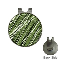Green Decorative Pattern Hat Clips With Golf Markers by Valentinaart