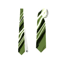Green Decorative Pattern Neckties (two Side)  by Valentinaart