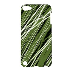 Green Decorative Pattern Apple Ipod Touch 5 Hardshell Case by Valentinaart