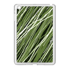 Green Decorative Pattern Apple Ipad Mini Case (white) by Valentinaart