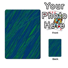 Green Pattern Multi Purpose Cards (rectangle)