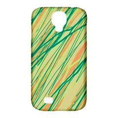 Green And Orange Pattern Samsung Galaxy S4 Classic Hardshell Case (pc+silicone) by Valentinaart