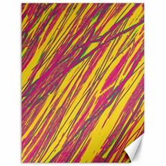 Orange Pattern Canvas 18  X 24   by Valentinaart
