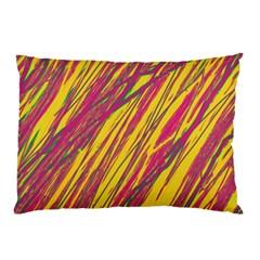 Orange Pattern Pillow Case by Valentinaart