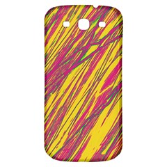Orange Pattern Samsung Galaxy S3 S Iii Classic Hardshell Back Case by Valentinaart