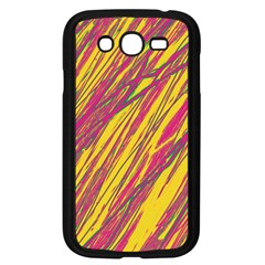 Orange Pattern Samsung Galaxy Grand Duos I9082 Case (black) by Valentinaart