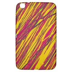 Orange Pattern Samsung Galaxy Tab 3 (8 ) T3100 Hardshell Case  by Valentinaart