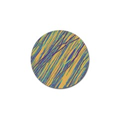 Blue And Yellow Van Gogh Pattern Golf Ball Marker (10 Pack) by Valentinaart