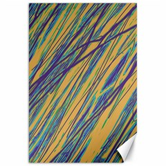 Blue And Yellow Van Gogh Pattern Canvas 20  X 30   by Valentinaart