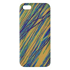 Blue And Yellow Van Gogh Pattern Apple Iphone 5 Premium Hardshell Case by Valentinaart