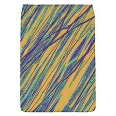 Blue And Yellow Van Gogh Pattern Flap Covers (s)  by Valentinaart
