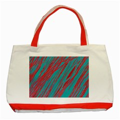 Red And Blue Pattern Classic Tote Bag (red) by Valentinaart