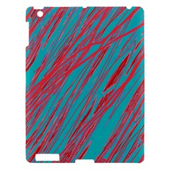 Red And Blue Pattern Apple Ipad 3/4 Hardshell Case by Valentinaart