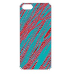 Red and blue pattern Apple iPhone 5 Seamless Case (White)