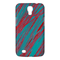 Red And Blue Pattern Samsung Galaxy Mega 6 3  I9200 Hardshell Case by Valentinaart