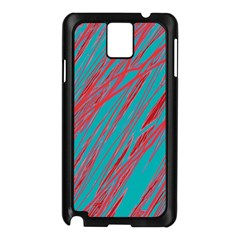 Red And Blue Pattern Samsung Galaxy Note 3 N9005 Case (black) by Valentinaart
