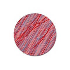 Pink And Red Decorative Pattern Magnet 3  (round) by Valentinaart