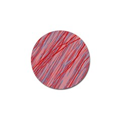 Pink And Red Decorative Pattern Golf Ball Marker (4 Pack) by Valentinaart
