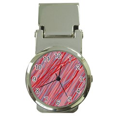 Pink And Red Decorative Pattern Money Clip Watches by Valentinaart