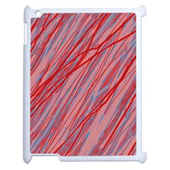 Pink And Red Decorative Pattern Apple Ipad 2 Case (white) by Valentinaart