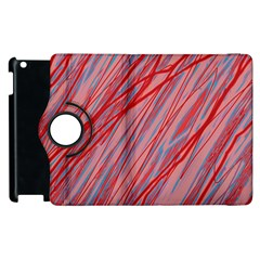 Pink and red decorative pattern Apple iPad 3/4 Flip 360 Case by Valentinaart