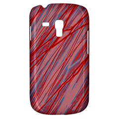 Pink And Red Decorative Pattern Samsung Galaxy S3 Mini I8190 Hardshell Case by Valentinaart