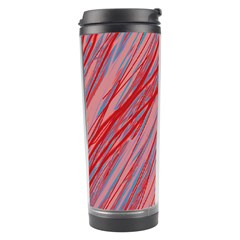 Pink And Red Decorative Pattern Travel Tumbler by Valentinaart