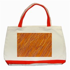 Orange Pattern Classic Tote Bag (red) by Valentinaart