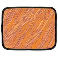 Orange Pattern Netbook Case (xl)  by Valentinaart