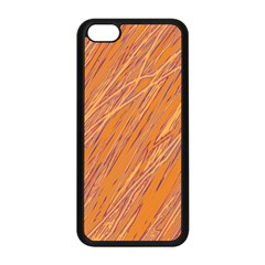 Orange Pattern Apple Iphone 5c Seamless Case (black) by Valentinaart