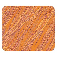 Orange Pattern Double Sided Flano Blanket (small)  by Valentinaart