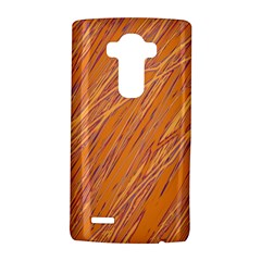 Orange Pattern Lg G4 Hardshell Case by Valentinaart