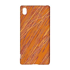 Orange Pattern Sony Xperia Z3+ by Valentinaart