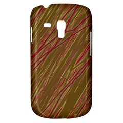 Brown Elegant Pattern Samsung Galaxy S3 Mini I8190 Hardshell Case by Valentinaart