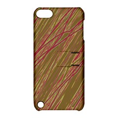 Brown Elegant Pattern Apple Ipod Touch 5 Hardshell Case With Stand by Valentinaart